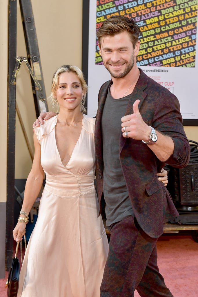 Elsa Pataky and Chris Hemsworth at the Once Upon a Time in Hollywood LA premiere.