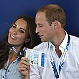 Will used Kate's VIP pass as a fan at the Commonwealth Games in July 2014.