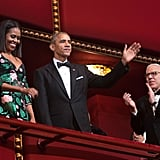 Barack and Michelle Obama at Kennedy Center Honors Dec. 2016