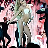 "Lady Gaga Goes Nearly Nude For ""Applause"" at the VMAs"