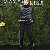 She Feted Maybelline Wearing a Contrast Turtleneck