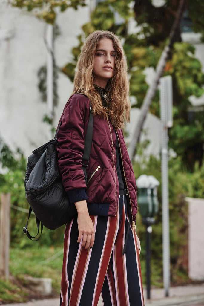 How do I style a bomber jacket with something other than jeans?