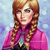 Celebrity Princess: Cara Delevingne as Anna From Frozen