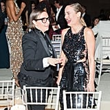 Pictured: lena Dunham and Brie Larson
