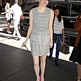 Emma Stone at Live! With Regis and Kelly.