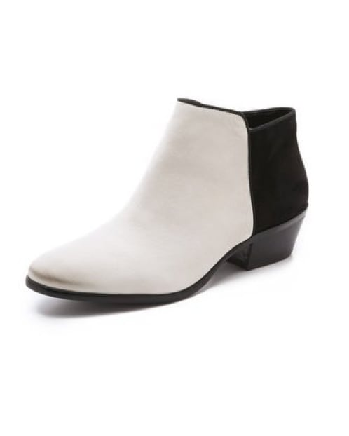 What's not to love about a slick black-and-white bootie like this Sam Edelman Petty short suede pair ($130)?