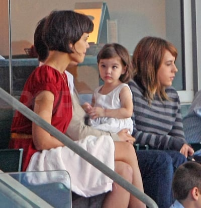 Suri Cruise, Isabella Cruise, Tom Cruise and Katie Holmes Watch David Beckham's Soccer Game