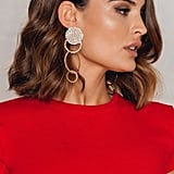 Nakd Hanging Structured Earrings