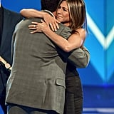 Adam Sandler and Jennifer Aniston at the 2019 People's Choice Awards