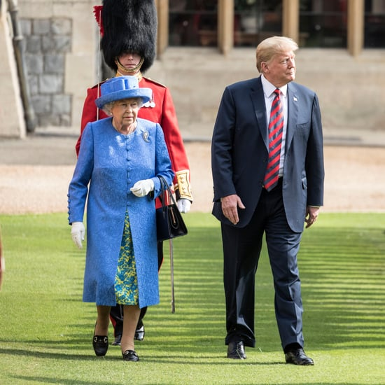 Queen Elizabeth and Trump Walking Around Windsor Castle 2018