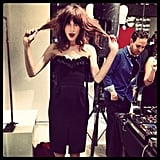 Alexa Chung found herself in a hairy situation at one point during FNO. Source: Instagram user fabsugar