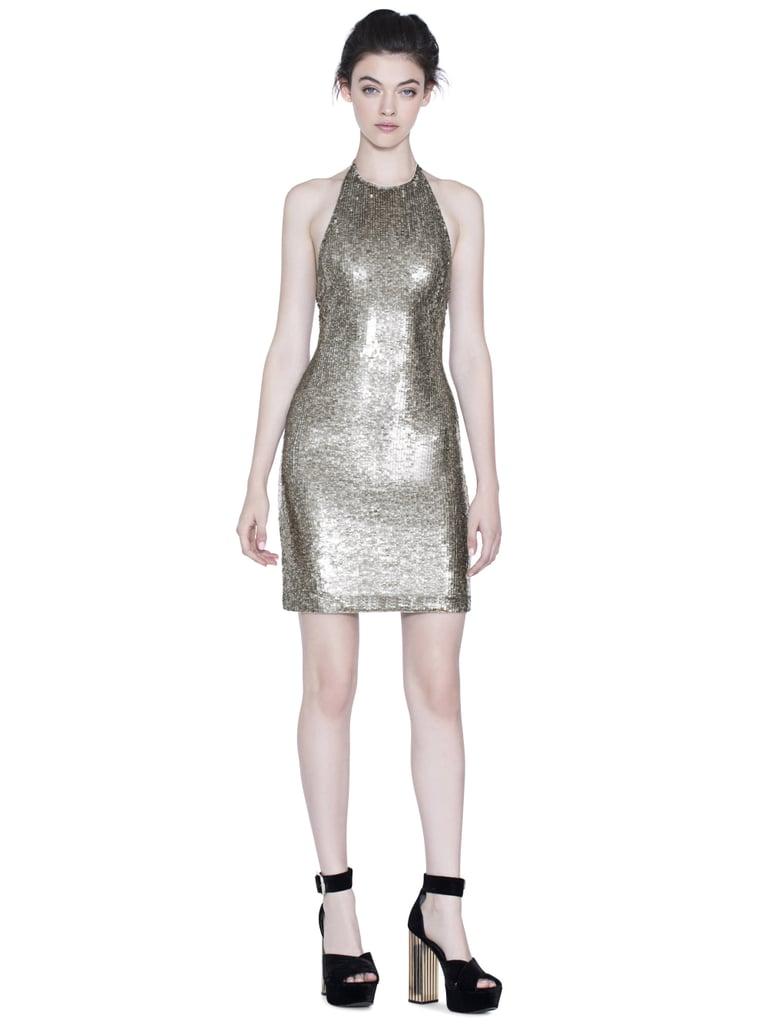 5fec0c5fe19 Alice + Olivia Marnie Embellished Fitted Halter Dress