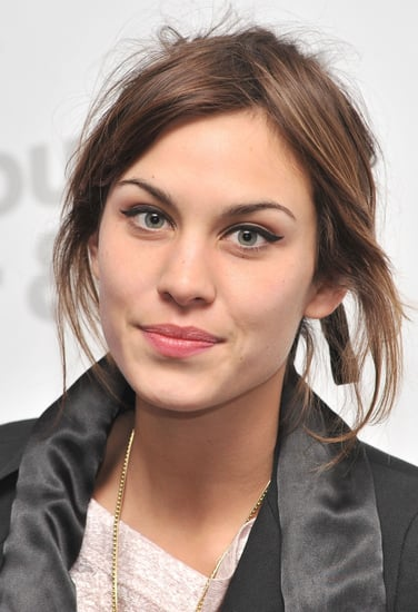 Alexa Chung at the Viktor & Rolf retrospective at Barbican, with winged black eyeliner make-up