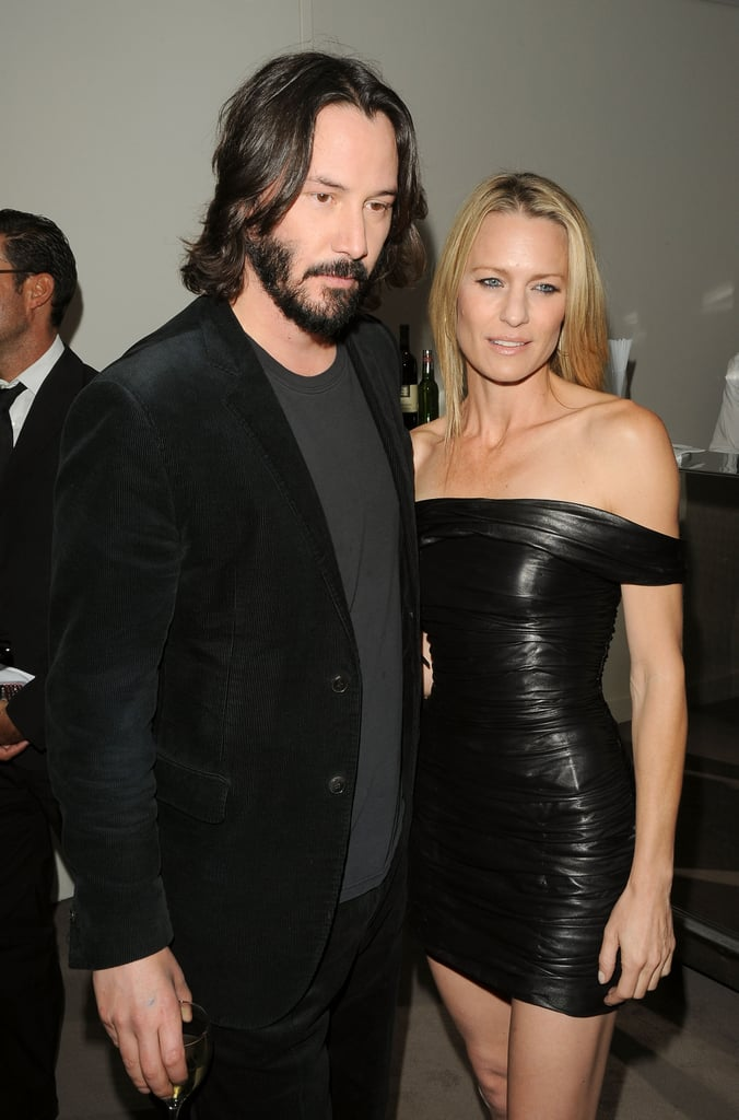 Keanu Reeves and Robin Wright stuck to a simple black palette at the 2009 premiere of The Private Lives of Pippa Lee.