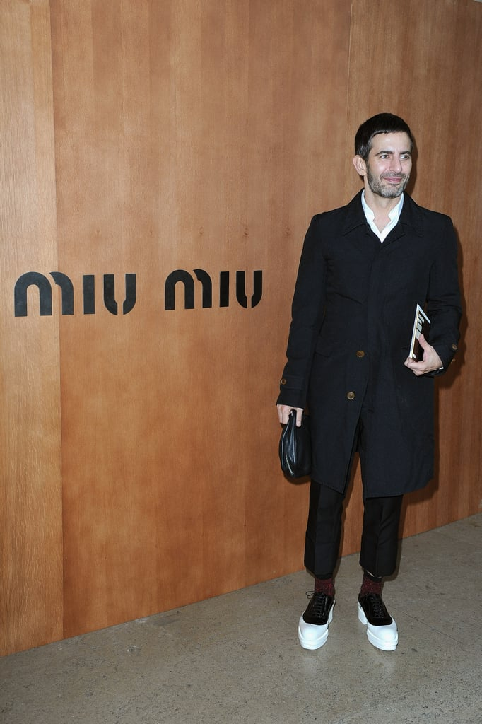 Marc Jacobs showed up for the Miu Miu show during Paris Fashion Week.
