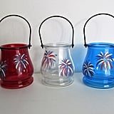 Hand-Painted Patriotic Hanging Candle