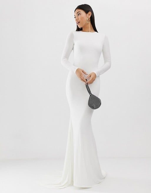 Club L London Fishtail Maxi Dress