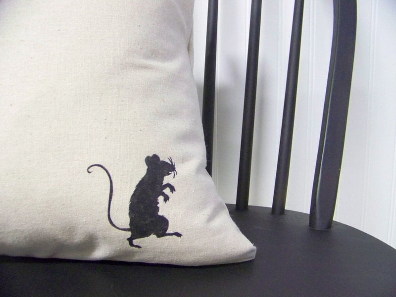 Slip this spooky cover ($15) on your everyday pillow for easy Halloween decor.