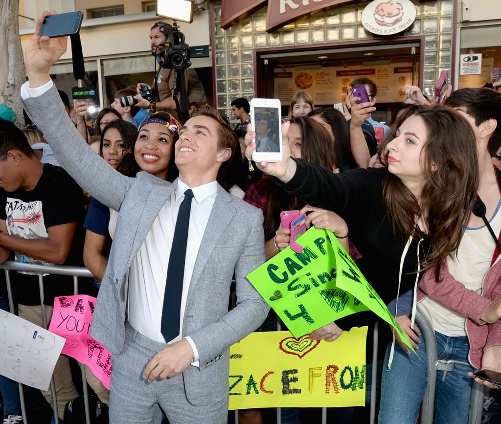 Dave snapped selfies with fans.
