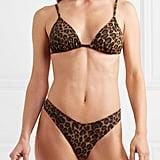 Fisch Net Sustain Coco Leopard-Print Triangle Bikini Top