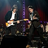 John Mayer shared the stage with Shawn Pelton.