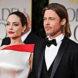 Angelina Jolie and Brad Pitt were straight-faced at the Golden Globe Awards.