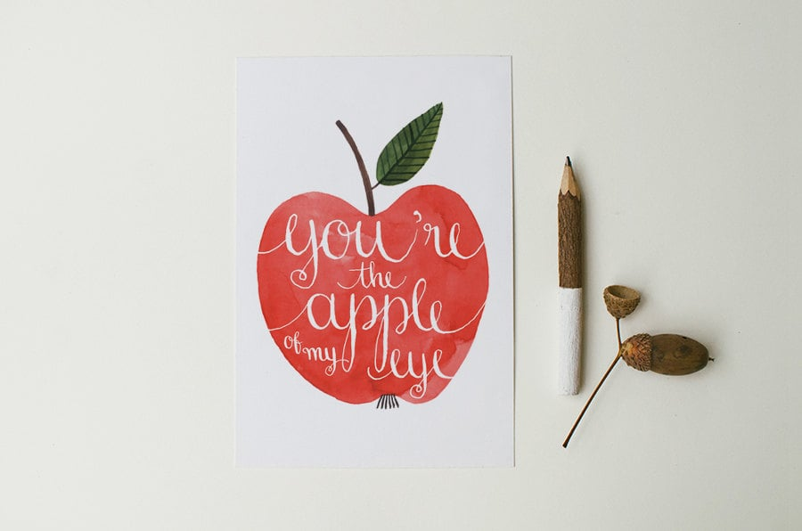 You're the apple of my eye ($3)
