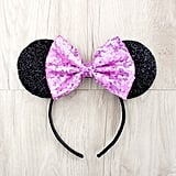 Pink Sequin Bow Ears ($11)