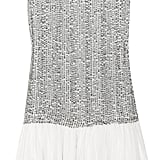 This sequined silk dress would look great with a navy blazer for the office.  Alice + Olivia Sequined Silk Dressa ($440)