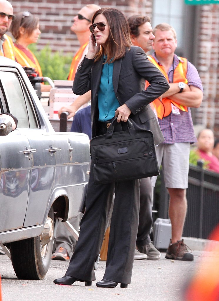 Sandra Bullock was on the set for The Heat.