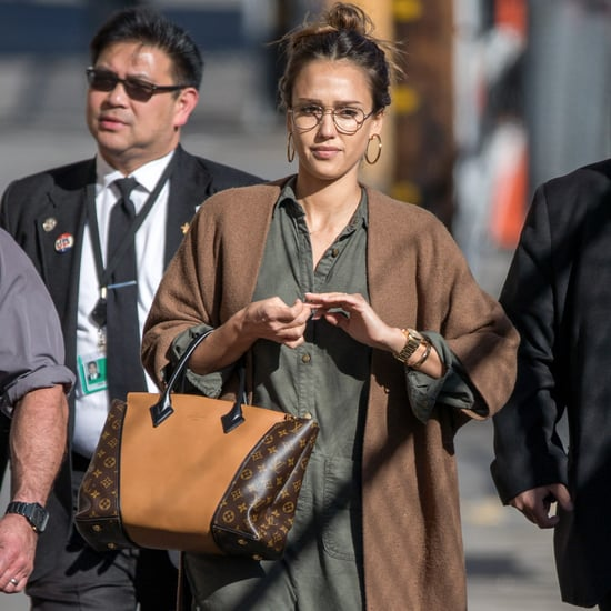 Jessica Alba's Louis Vuitton W Bag March 2017