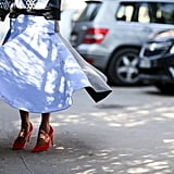 A skirt like this deserves to be twirled, and shoes like this deserve to be shown off.