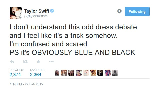 Celebrity Reactions Is White And Gold Dress Black And