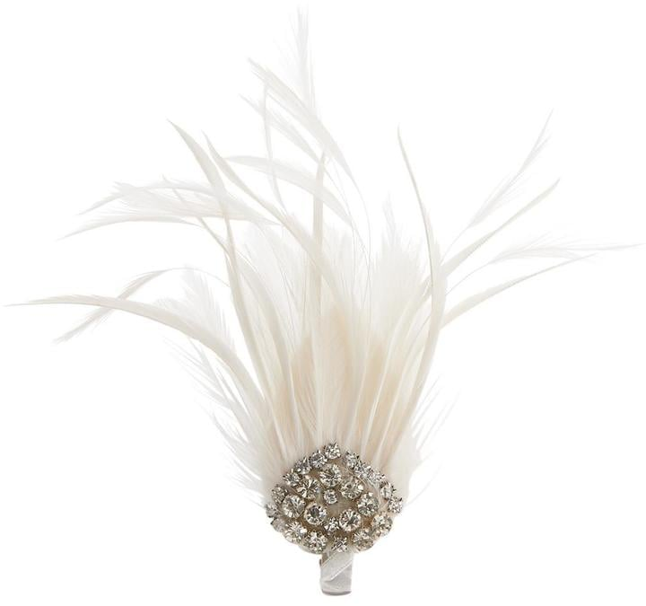 Feather and Jewel Hair Clip