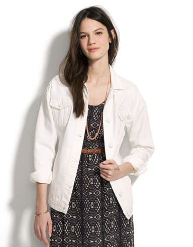 Every cool girl needs a white denim jacket in her mix for Summer. We love the longer, boyish cut on this Won Hundred Denim Josie Jacket ($119, originally $212) and the discounted price tag is pretty attractive, too.
