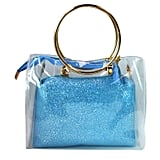 Mily 2 in 1 Clear Tote Transparent Top Ring Handle Handbag
