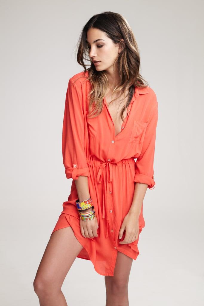 Lily Aldridge For Velvet Jessie Voile Shirt Dress ($189) Source: Courtesy of Velvet