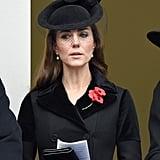 Kate wearing Alexander McQueen in November 2015.