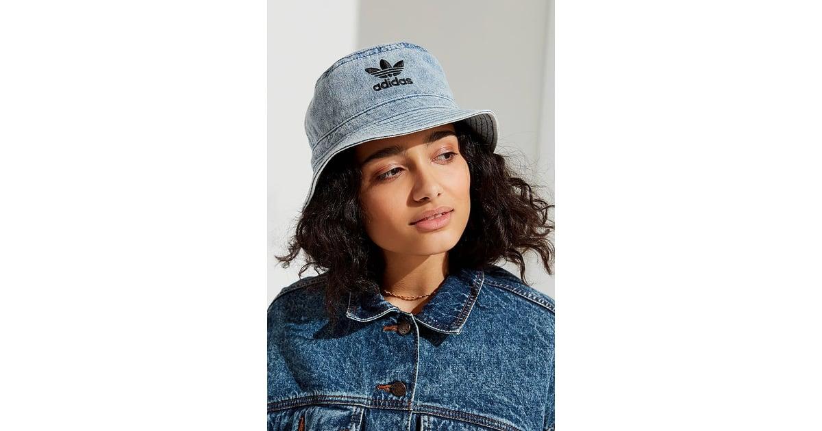 61d39735 Adidas Originals Denim Bucket Hat | How to Wear a Bucket Hat 2018 |  POPSUGAR Fashion Photo 27
