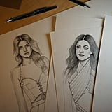 These Sketches Look a Lot Like Kendall and Kylie