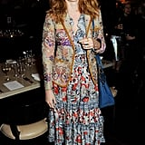 Lily Cole dined with The London Edition and Nowness in a bohemian maxidress.