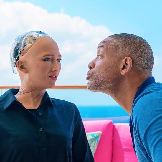 ويل سميث يلتقي بالروبوت صوفيا