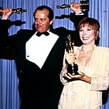 Jack Nicholson and Shirley MacLaine, 1984