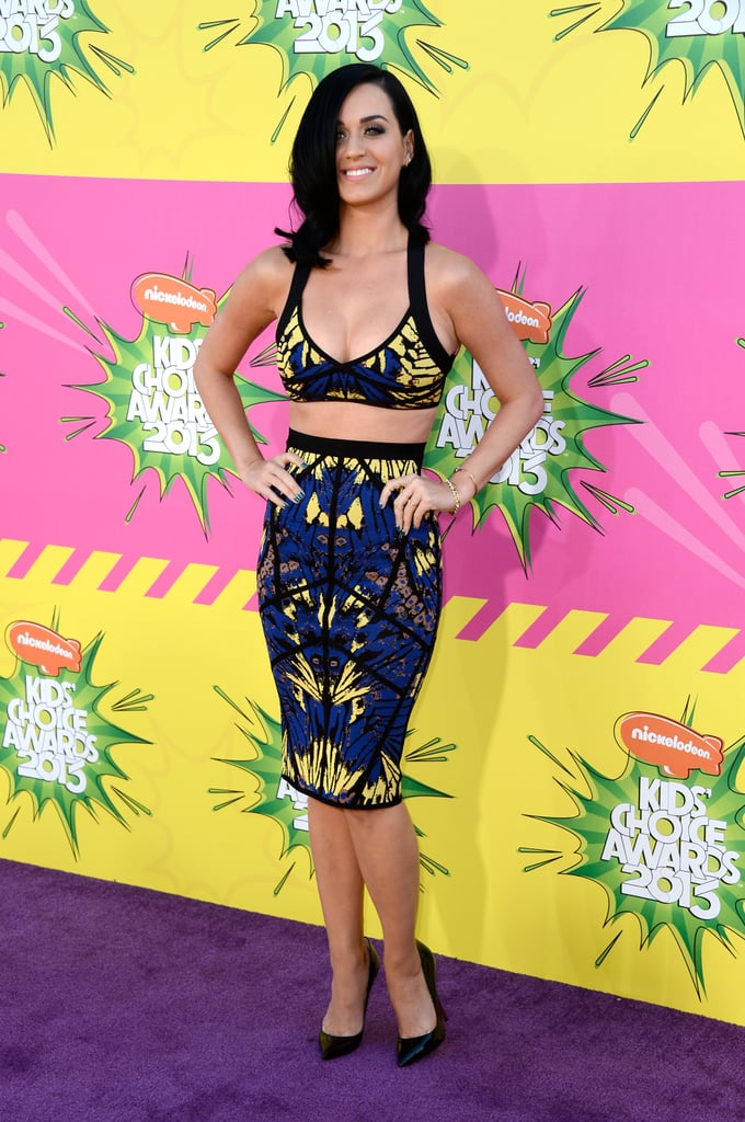 Katy Perry wore Hervé Léger by Max Azria to the Kids' Choice Awards.