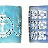 Blue Ceramic Votive Candleholders ($18 set of 4)