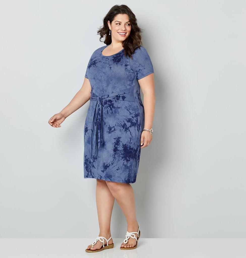 Avenue Belted Tie Dye Sheath Dress