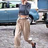 Gigi Hadid Picks High-Waisted Paper Bag Pants