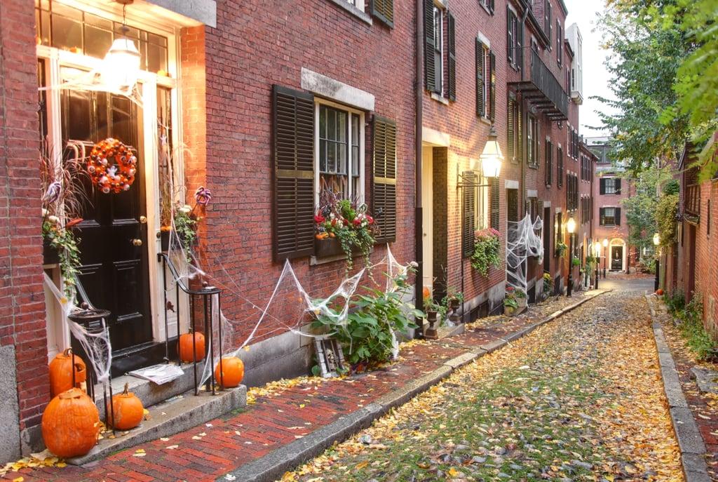 Halloween in Boston Zoom Background