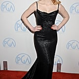 A black corseted Balenciaga at the 2012 Producers' Guild Awards.