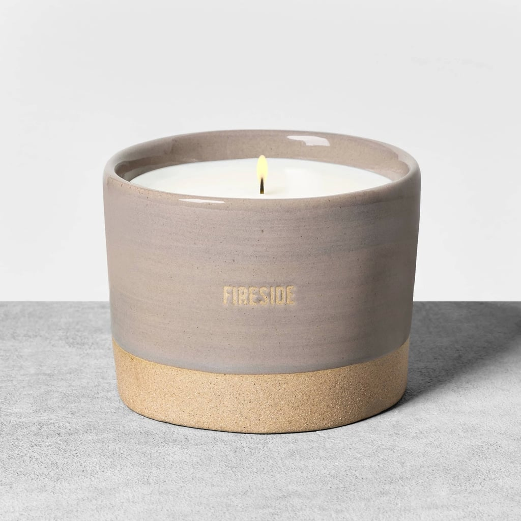 Fireside Glaze Ceramic Candle